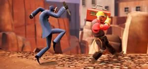 Spy VS. Engineer