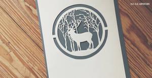 deer papercut