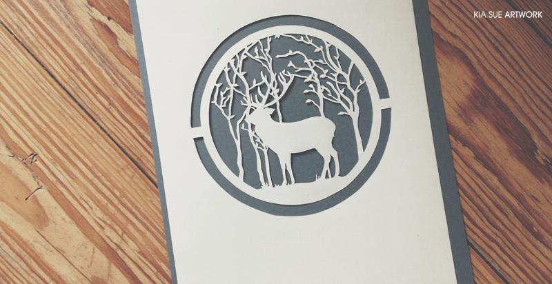 deer papercut by KiaSuee