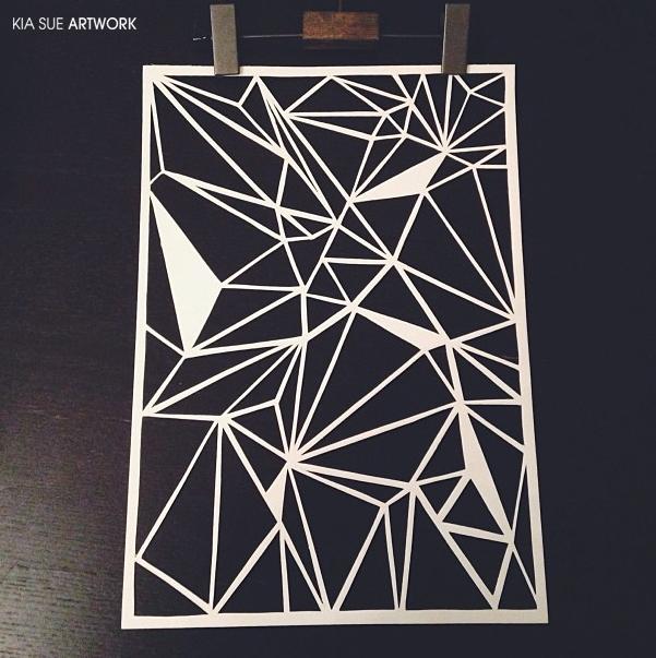 Triangle Papercut by KiaSuee