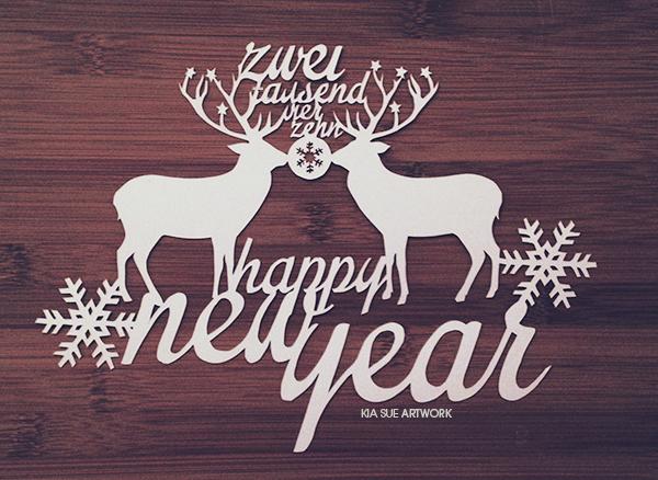 happy new year // papercut by KiaSuee
