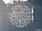 home is where my mom is _ mothers day papercut #1