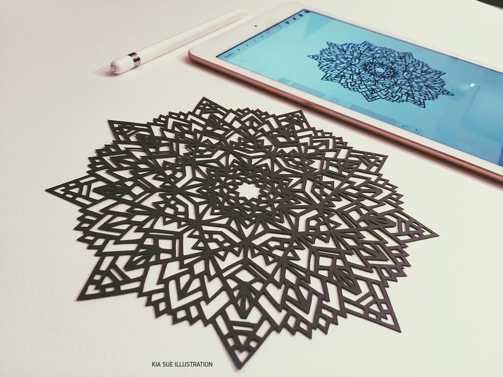 mandala papercut by KiaSuee