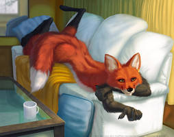 There's a fox on your couch by kuroseishin