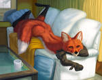 There's a fox on your couch