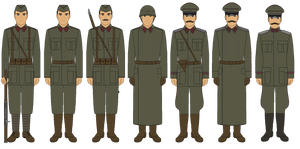 Bordurian Armed Forces Circa 1938 - Revised