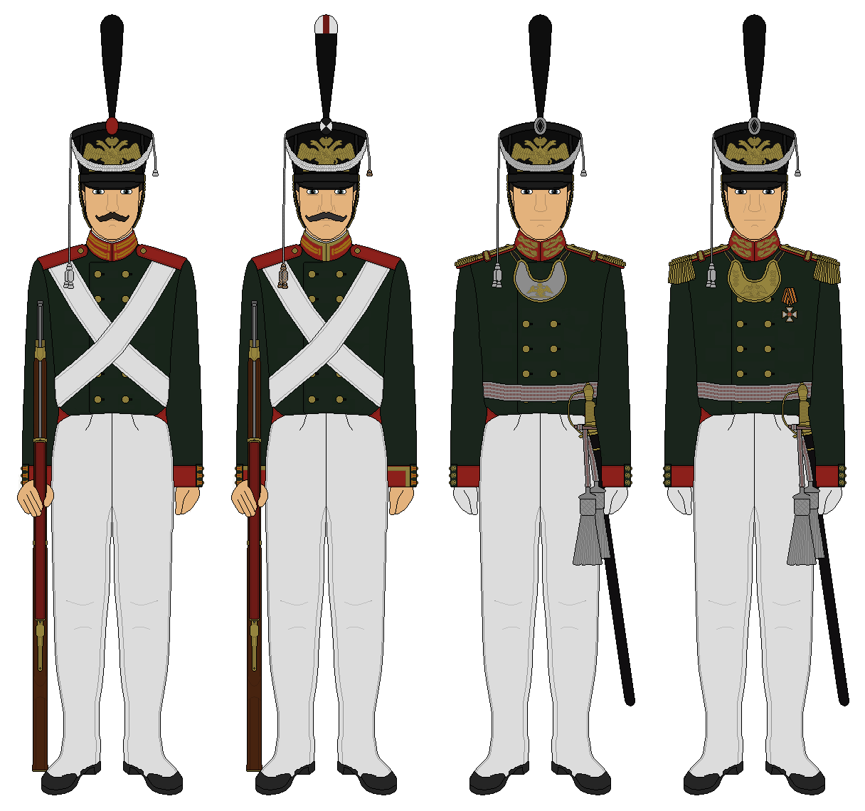 Leib-Gvardii Preobrazhenskiy Polk - Circa 1812 by JoeyLock ...