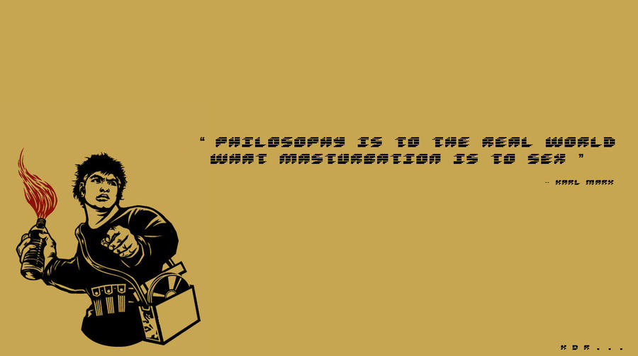 Karl Marx said it . by Corrupted-Art