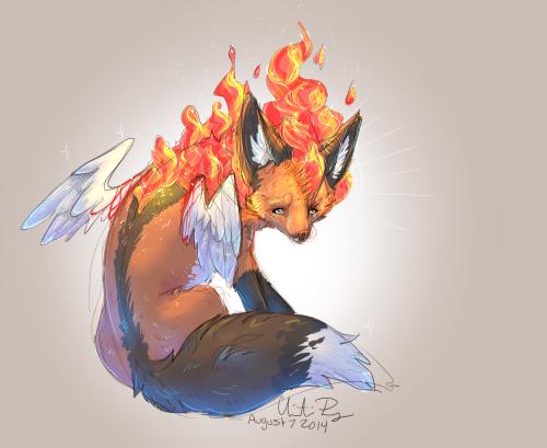 Fire Fox by prysmyr