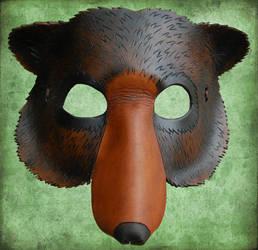 Leather Bear Mask