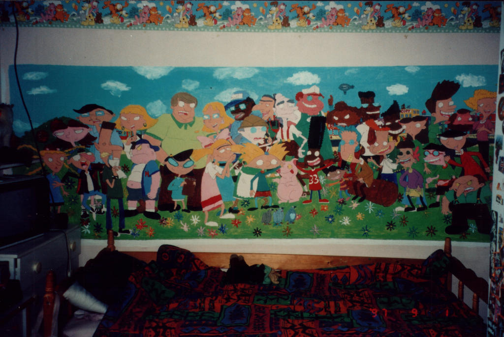 hey arnold character mural by shaami on deviantart