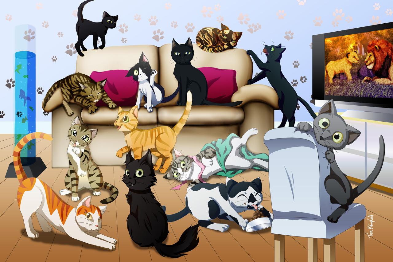13 Cats by Shaami