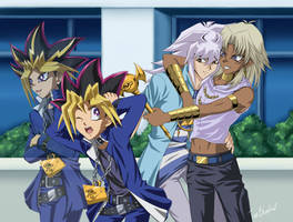 I Can't Think of Anything, So Let's Hit Yugi by Shaami