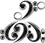 bass clefs.