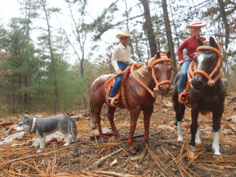 Tom and Mikey going for a fall trail ride by GreenandPleasant
