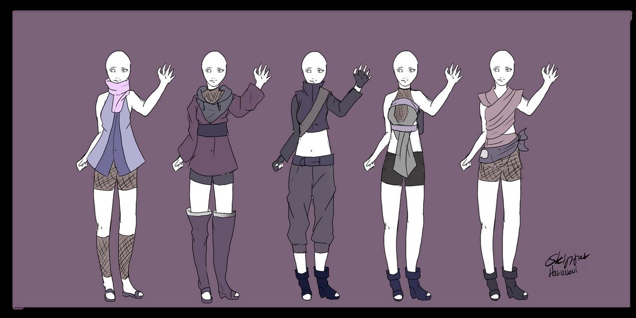 Naruto Outfit Adoptables ,OPEN, v.v by Skip,per