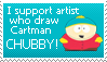 Cartman is Chubby stamp by BiscuitsAndTruffles