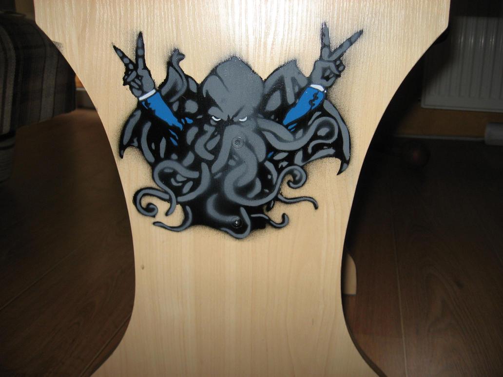 Cthulhu Stencil by AdomasWillKill