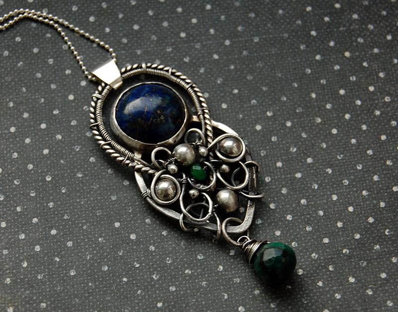 handmade pendant sterling silver by honeypunk