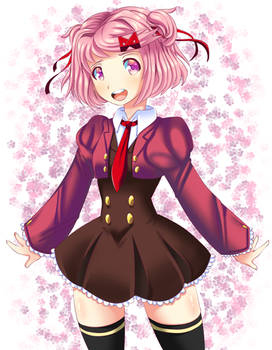 Cute lil pink manga reader