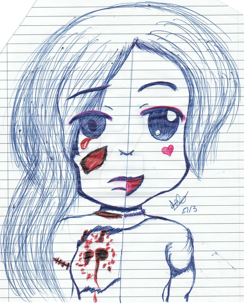 split girl sketch by duskthekuudere