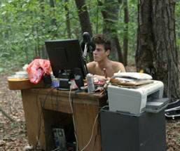 My Office in the Woods by rossbollinger