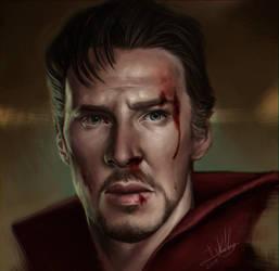 Doctor Strange Portrait by Ink-Mug