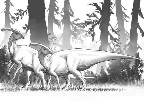 Dinovember 2020 - Day 8 - Parasaurolophus