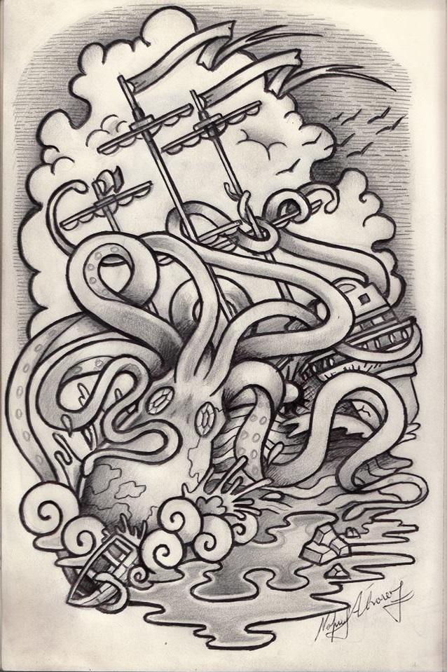 kraken design by Fabian-Alvarez-Sosa on DeviantArt