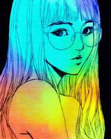Rainbow Galaxy Girl by Sagehills
