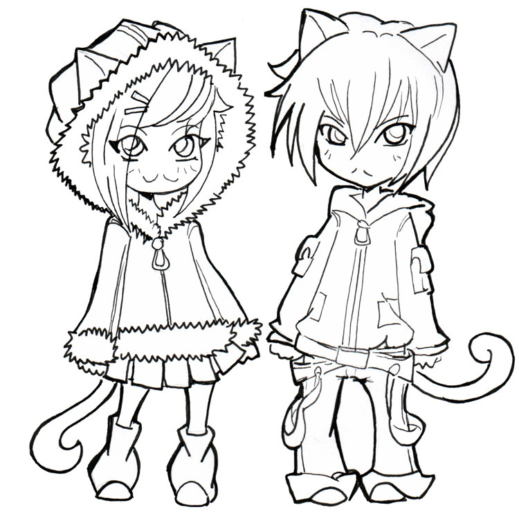 coloring pages favourites by kyokurumi on deviantart - Coloring Pages Anime Couples Chibi