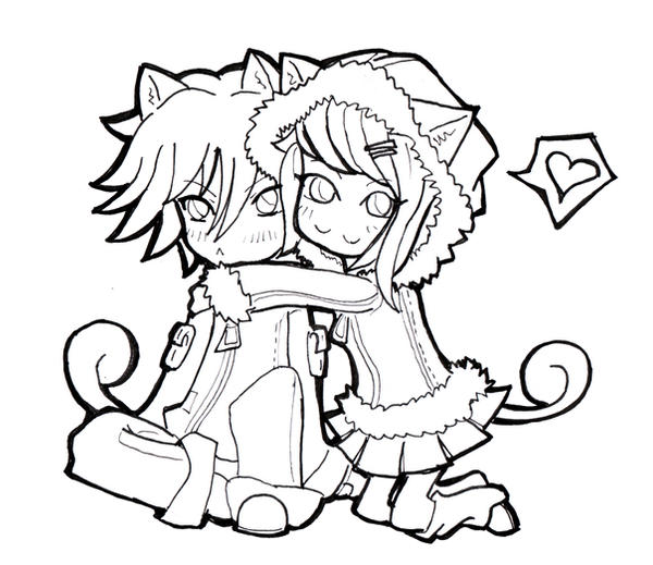 Neko Chibi Coloring Pages Pictures to Pin on Pinterest  PinsDaddy