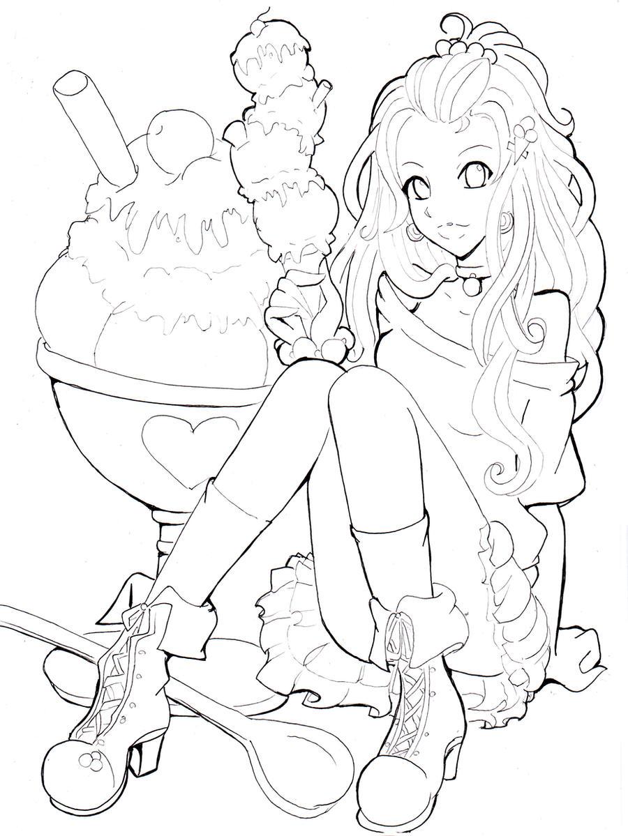 ice cream line by namtia on deviantart