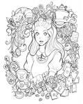 Alice in Wonderland - lineart