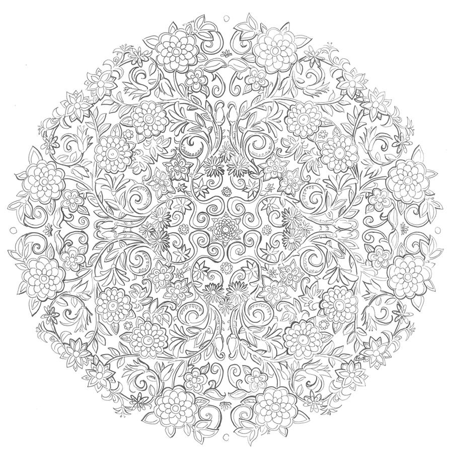 Image Result For Mandalas Flower Coloring
