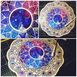 Window to the universe - doily art