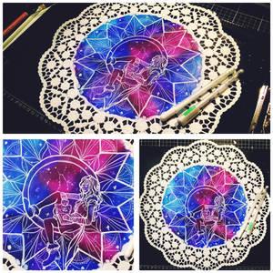 Ookamiza Caelum arttrade with Ritusss - doily art