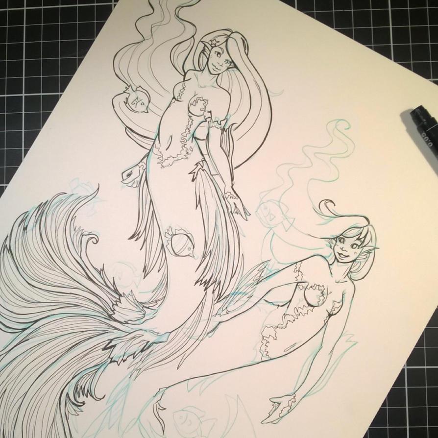Mermaid tag by Namtia