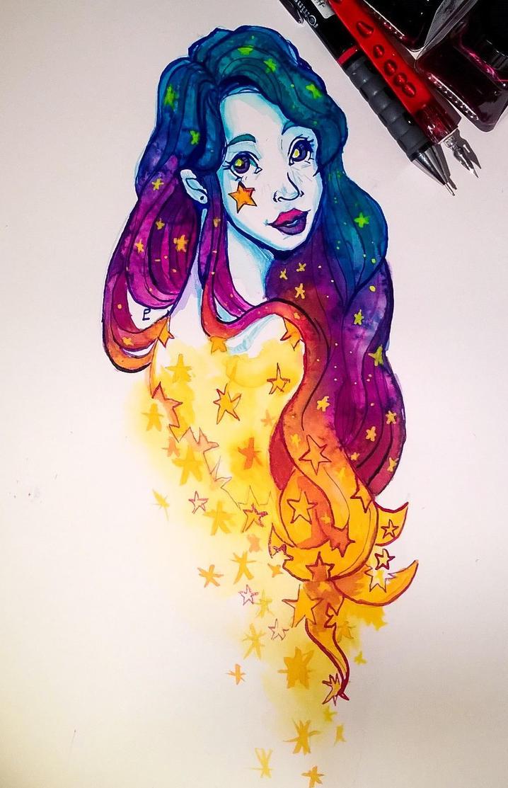 Falling star by Namtia