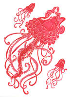 Jellyfish mermaid by Namtia