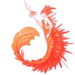 Crocoite mermaid