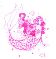 Heart mermaid by Namtia