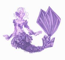 Amethyst mermaid by Namtia