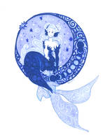 Moon mermaid by Namtia