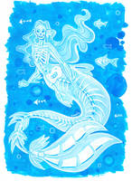 Ghost mermaid by Namtia