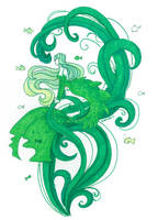 Seaweed mermaid by Namtia