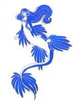Blue sea slug mermaid by Namtia