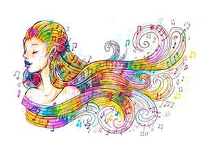 On wings of music