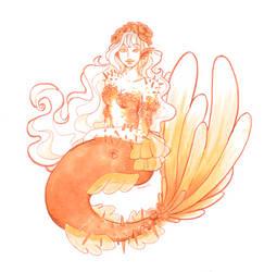 Barite Desert Rose mermaid
