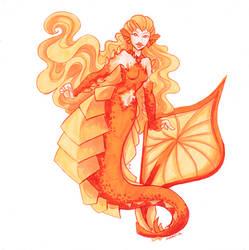 Wulfenite mermaid